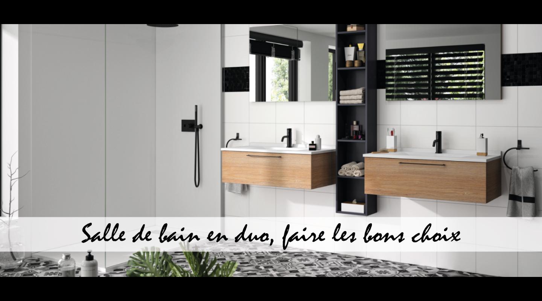 Salle de bain en duo, faire les bons choix
