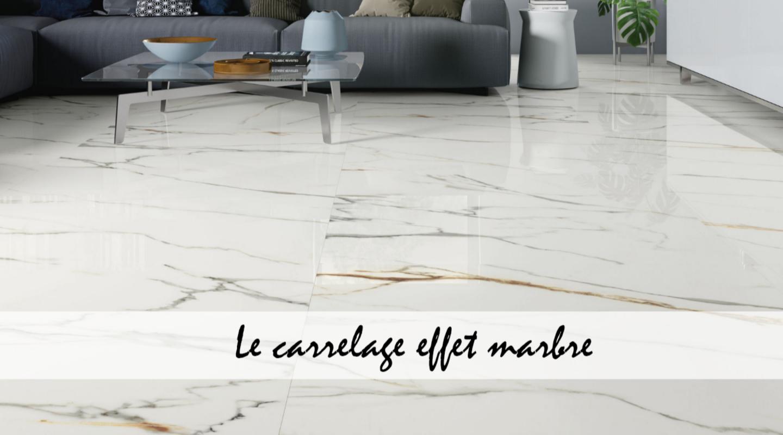 Le carrelage effet marbre