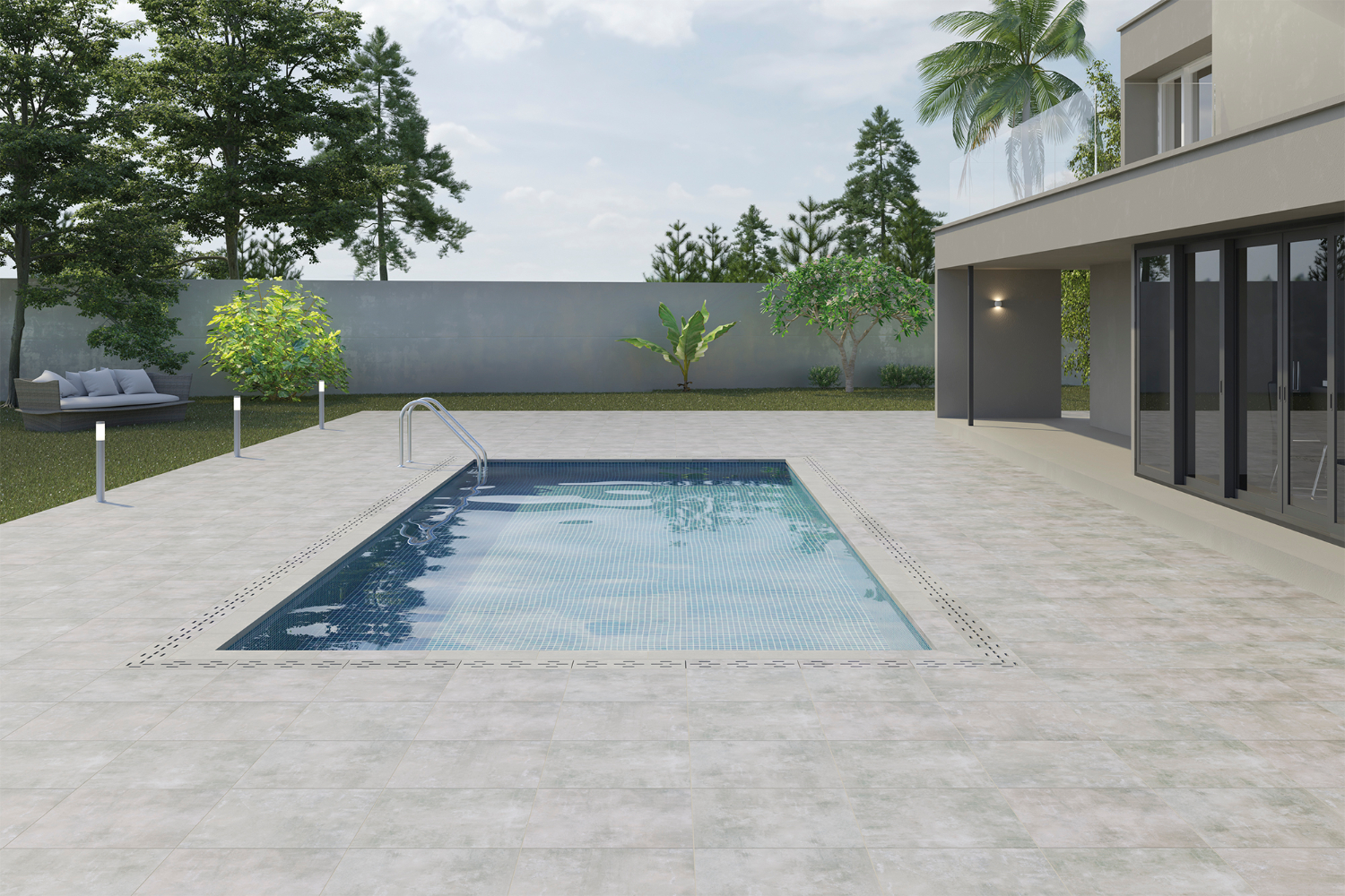 Margelle piscine carrelage